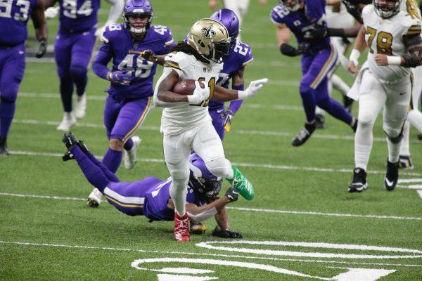 Kamara leidt Saints naar divisietitel